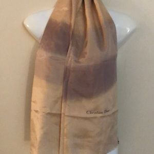 Christian Dior vintage silk hand painted scarf